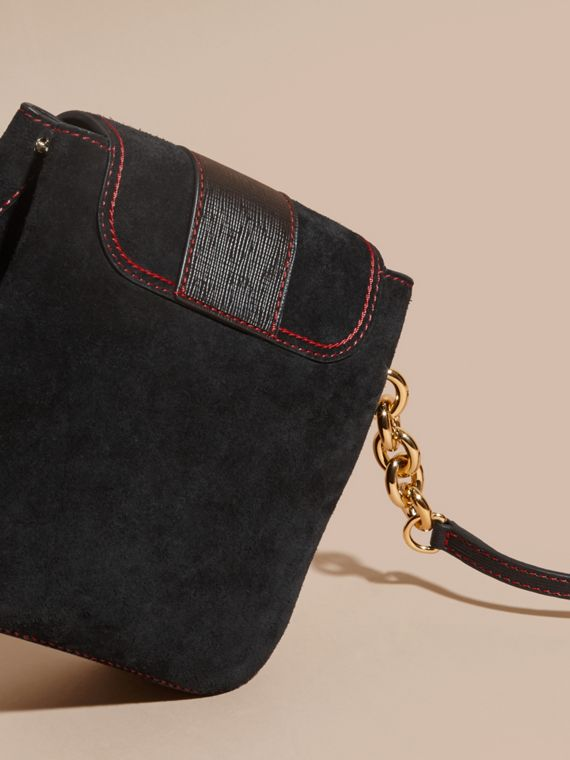 Black The Medium Buckle Bag – Square in English Suede and Leather - cell image 3