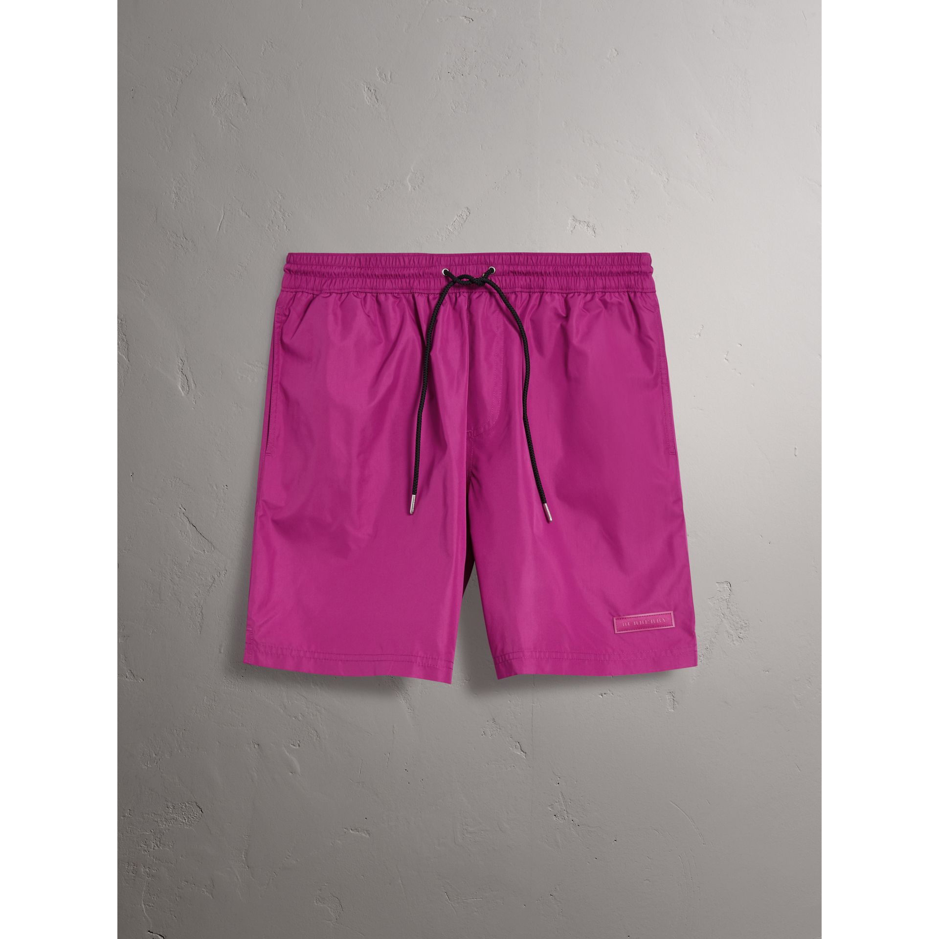 Drawcord Swim Shorts in Bright Fuchsia - Men | Burberry - gallery image 0