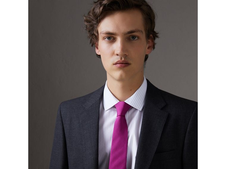 Modern Cut Silk Tie in Bright Rose Pink - Men | Burberry Singapore - cell image 2