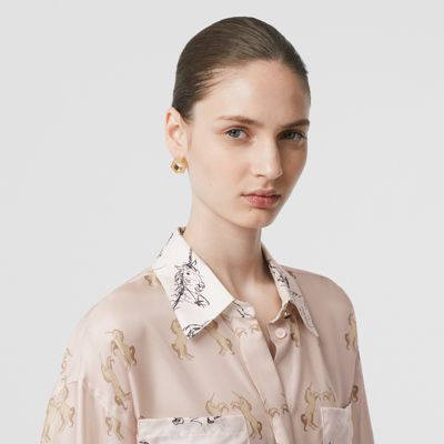 Camicia unicorno in seta