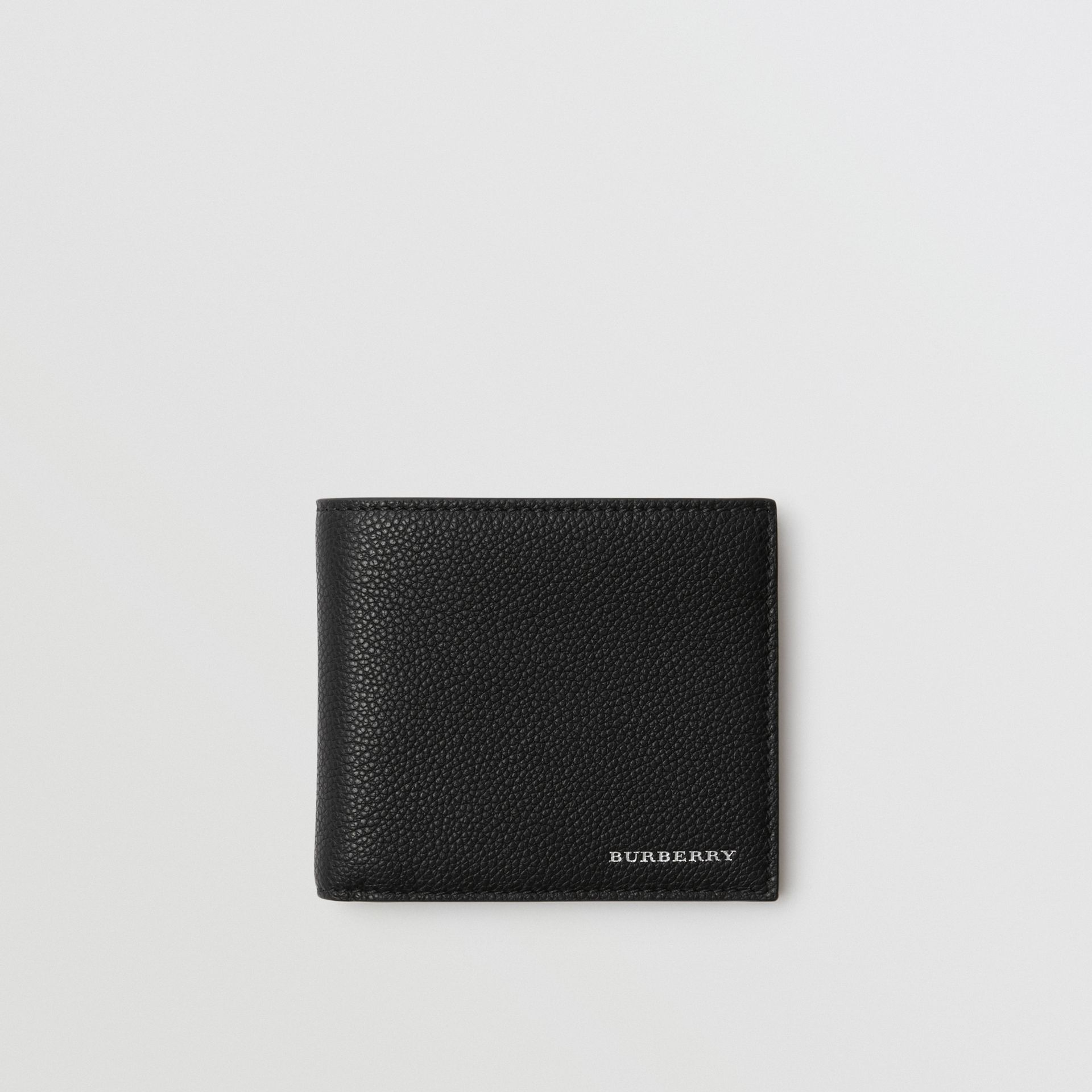 Grainy Leather International Bifold Wallet in Black - Men | Burberry Canada - gallery image 0
