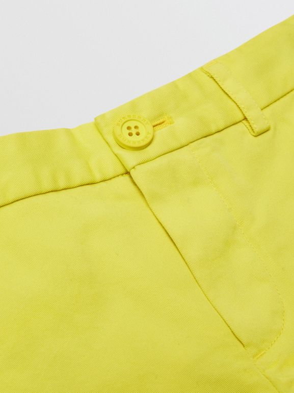 Cotton Chino Shorts in Citron | Burberry - cell image 1
