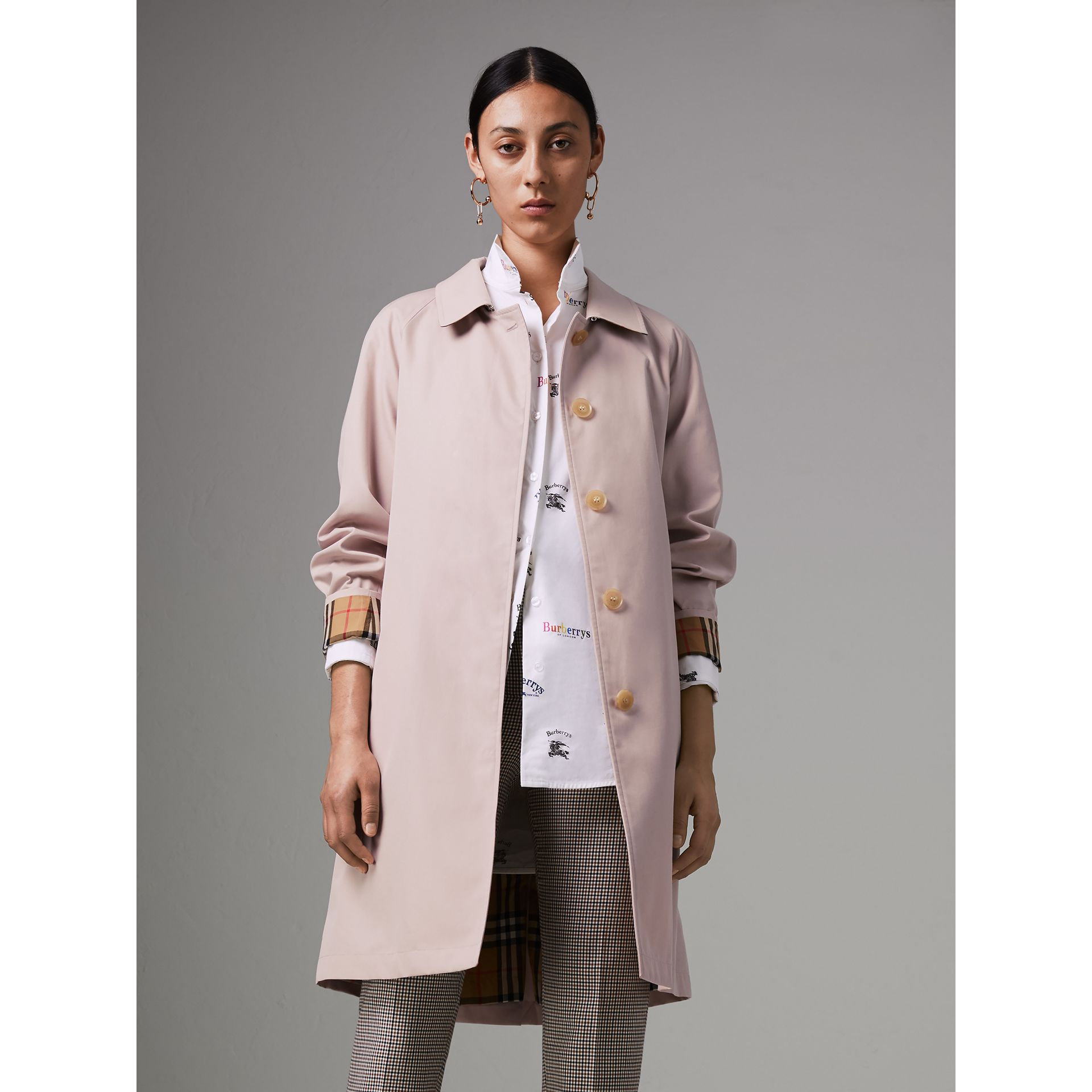 The Camden Car Coat in Ice Pink - Women | Burberry - gallery image 5