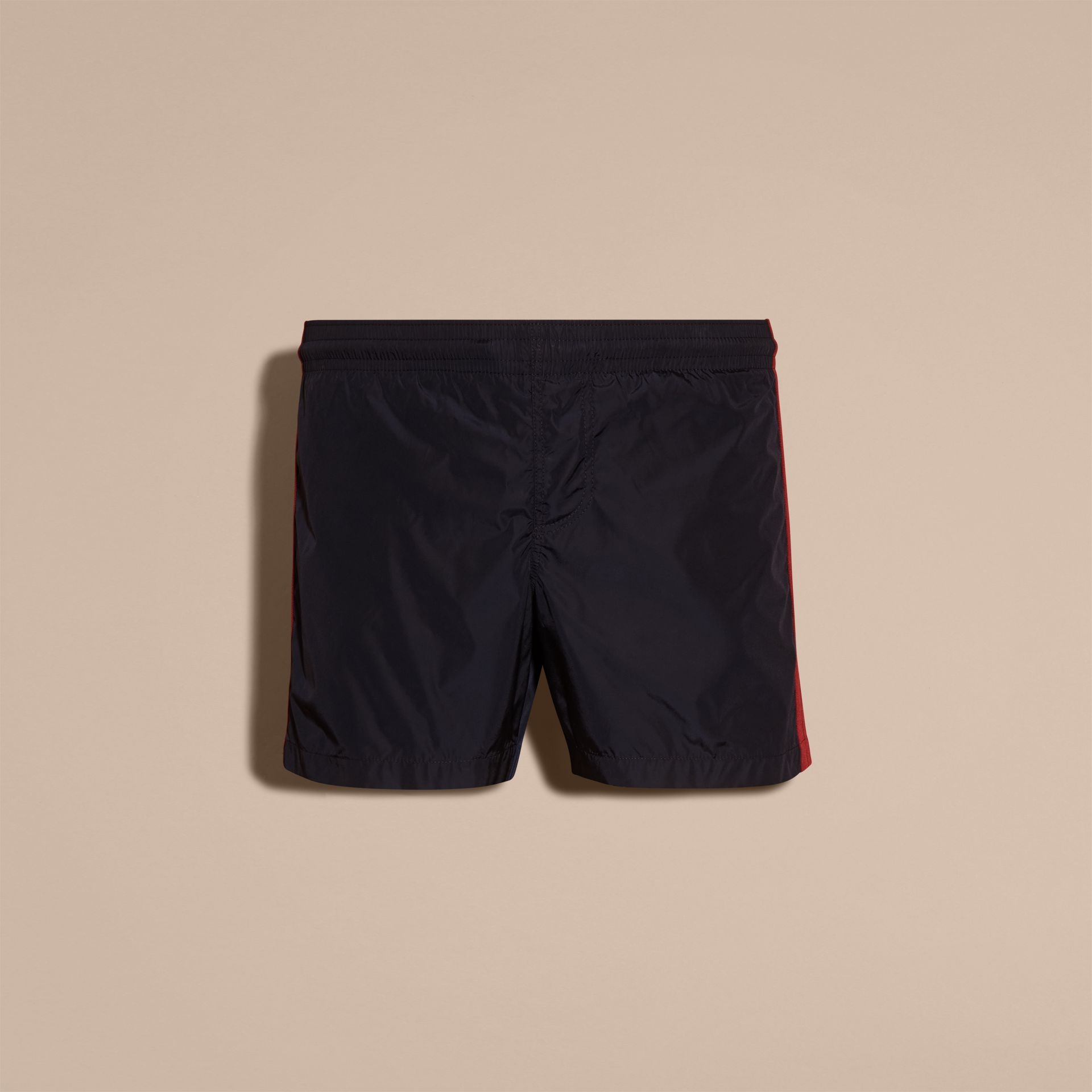 Navy Stripe Detail Swim Shorts Navy - gallery image 4