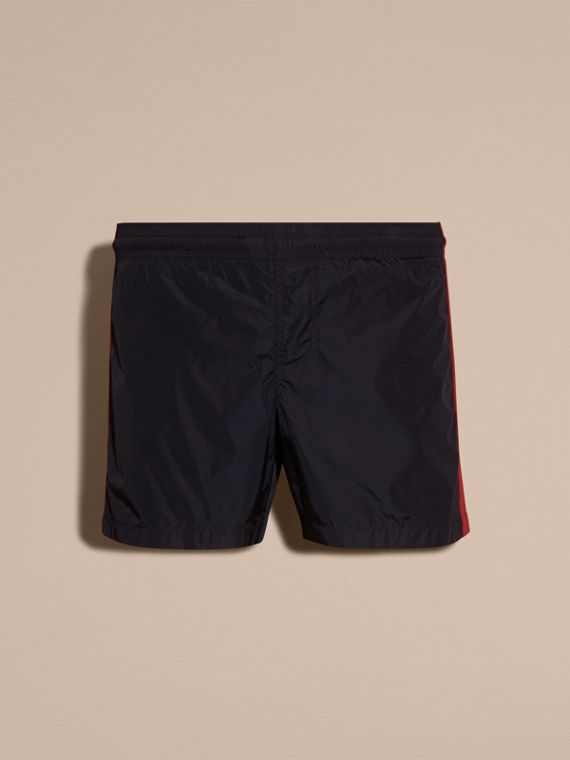 Navy Stripe Detail Swim Shorts Navy - cell image 3