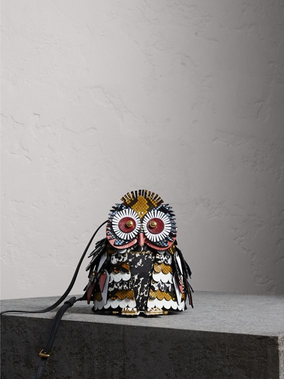 The Owl – Calf Suede and Calf Hair Crossbody Bag - Women | Burberry Canada
