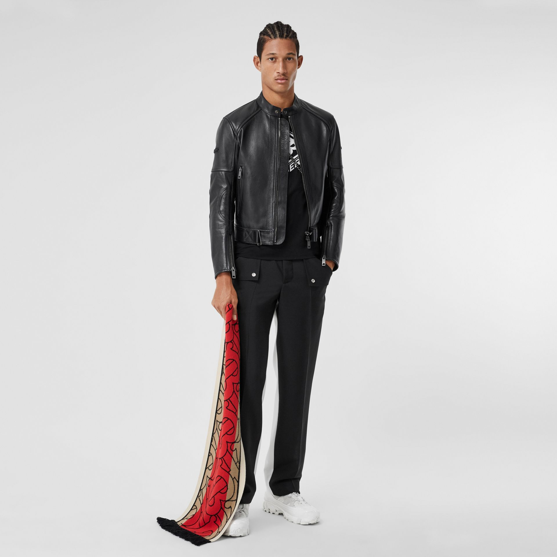 Leather Bomber Jacket in Black - Men   Burberry - gallery image 0