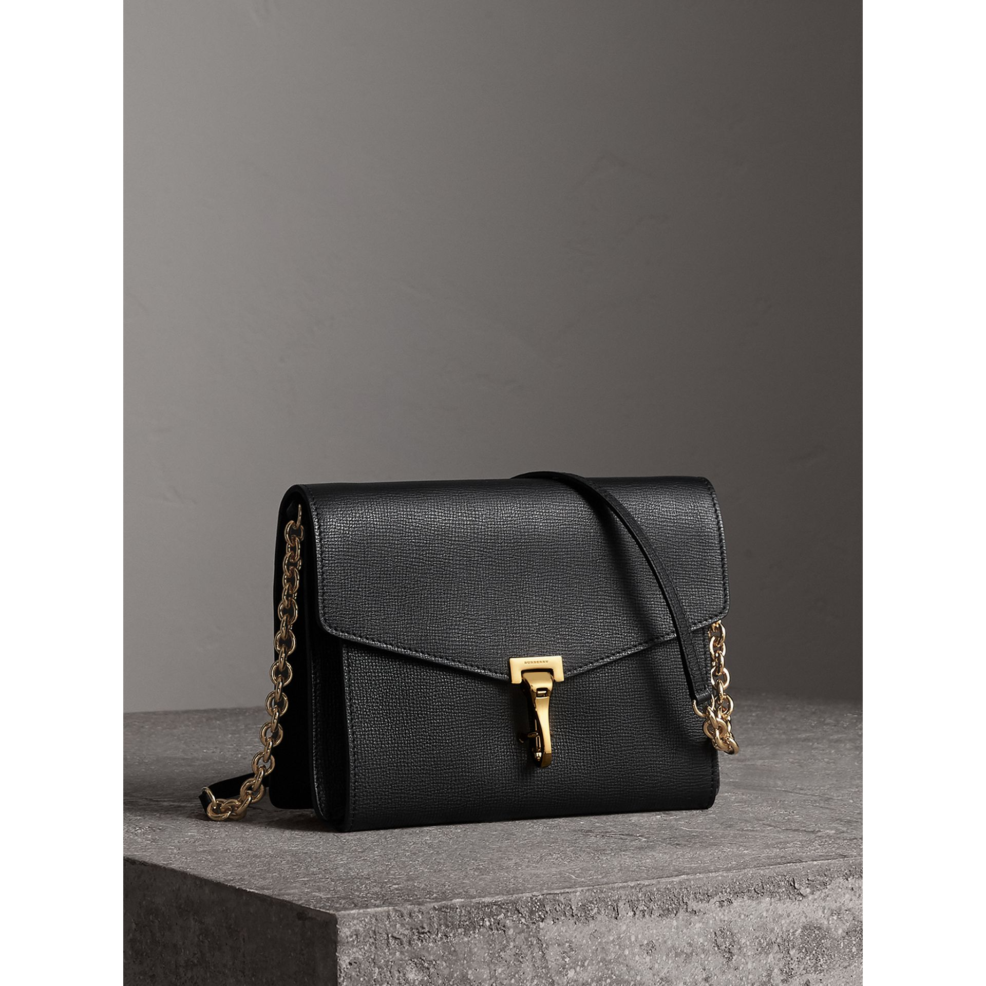 Small Leather Crossbody Bag in Black - Women | Burberry - gallery image 6