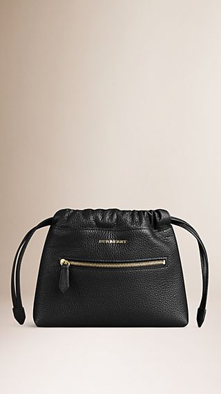 Sac The Mini Crush en cuir grené