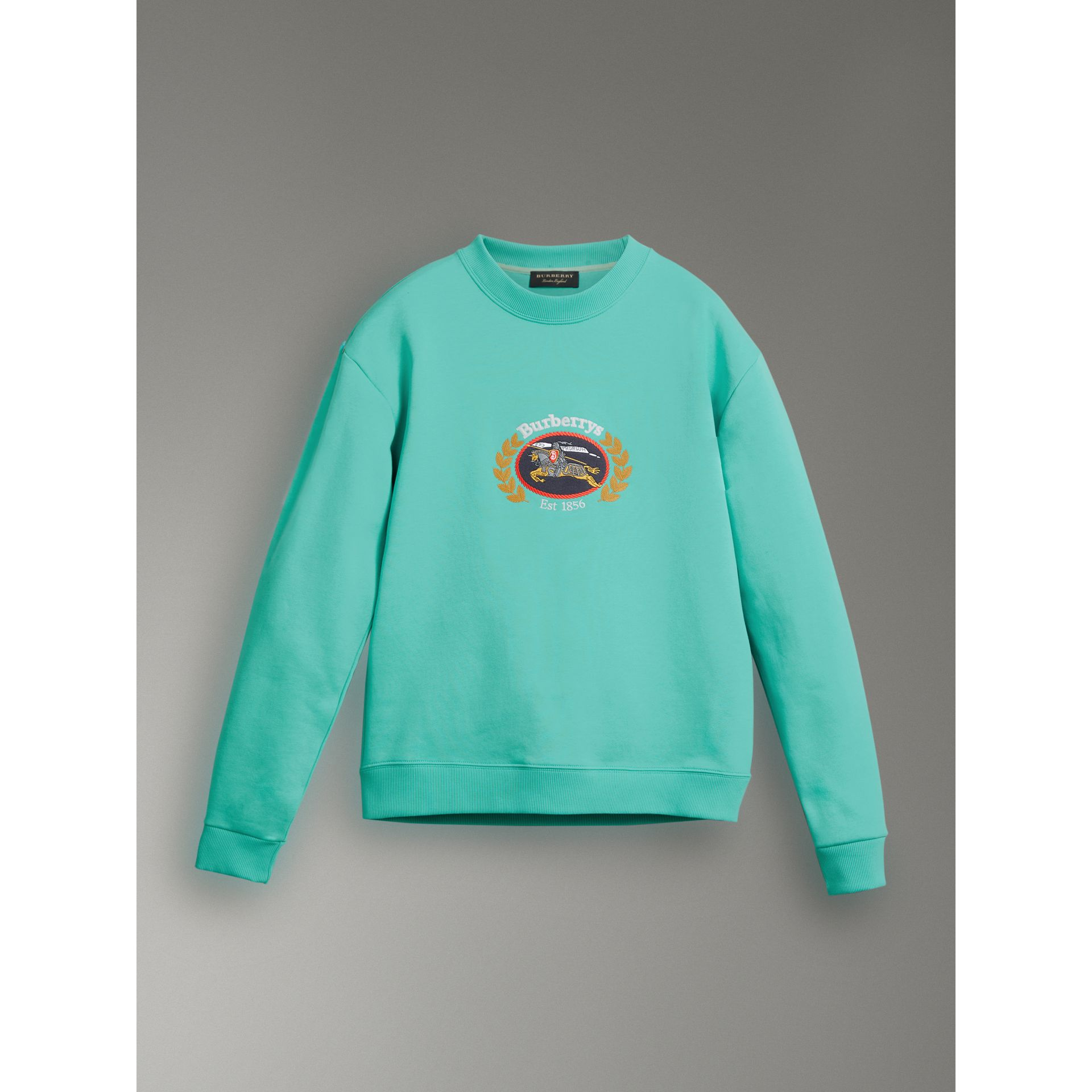 Reissued Jersey Sweatshirt in Aqua - Men | Burberry United Kingdom - gallery image 3