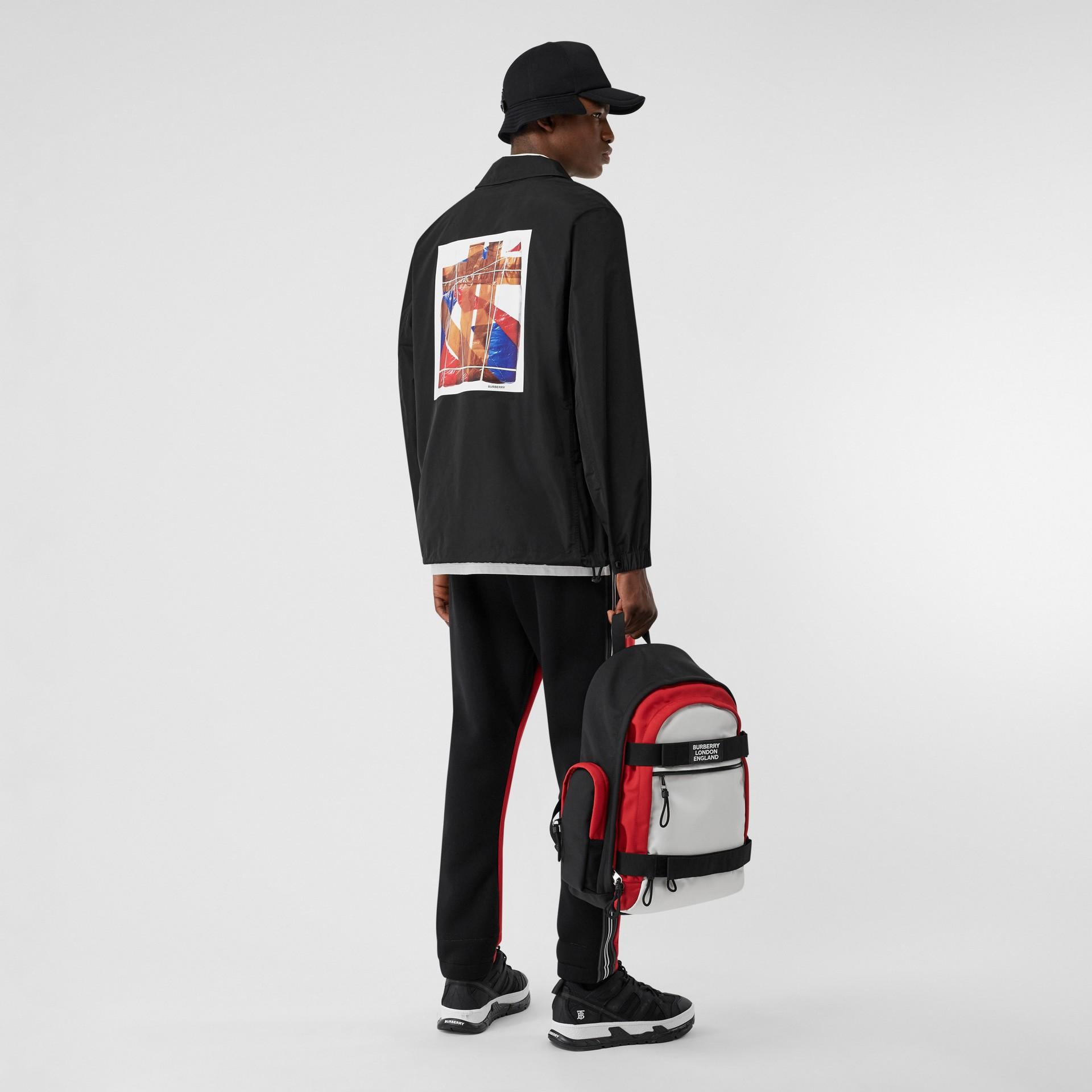 Tape Print Shape-memory Taffeta Jacket in Black - Men | Burberry Hong Kong S.A.R - gallery image 4