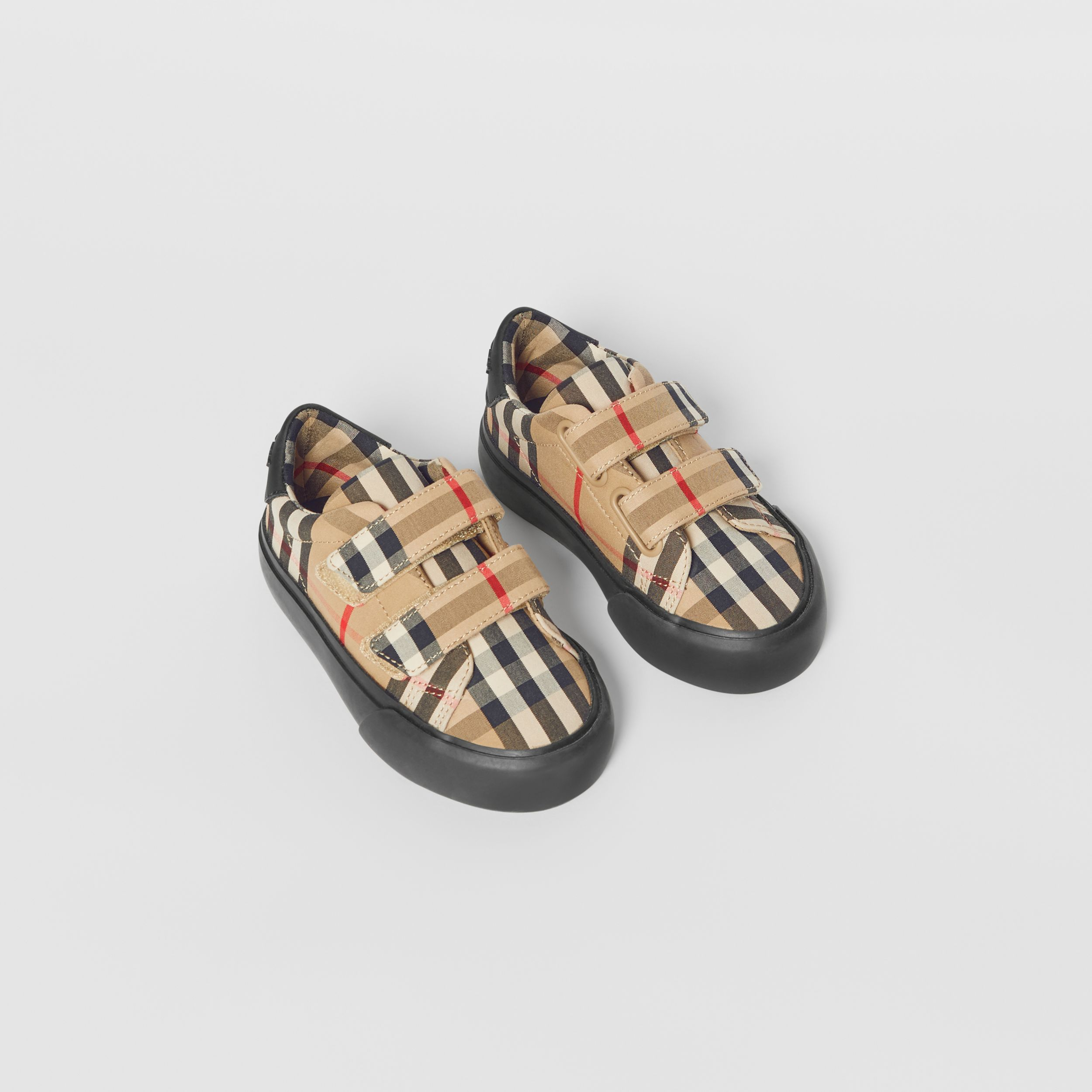 Vintage Check Cotton Sneakers in Archive Beige/black - Children | Burberry Australia - 1