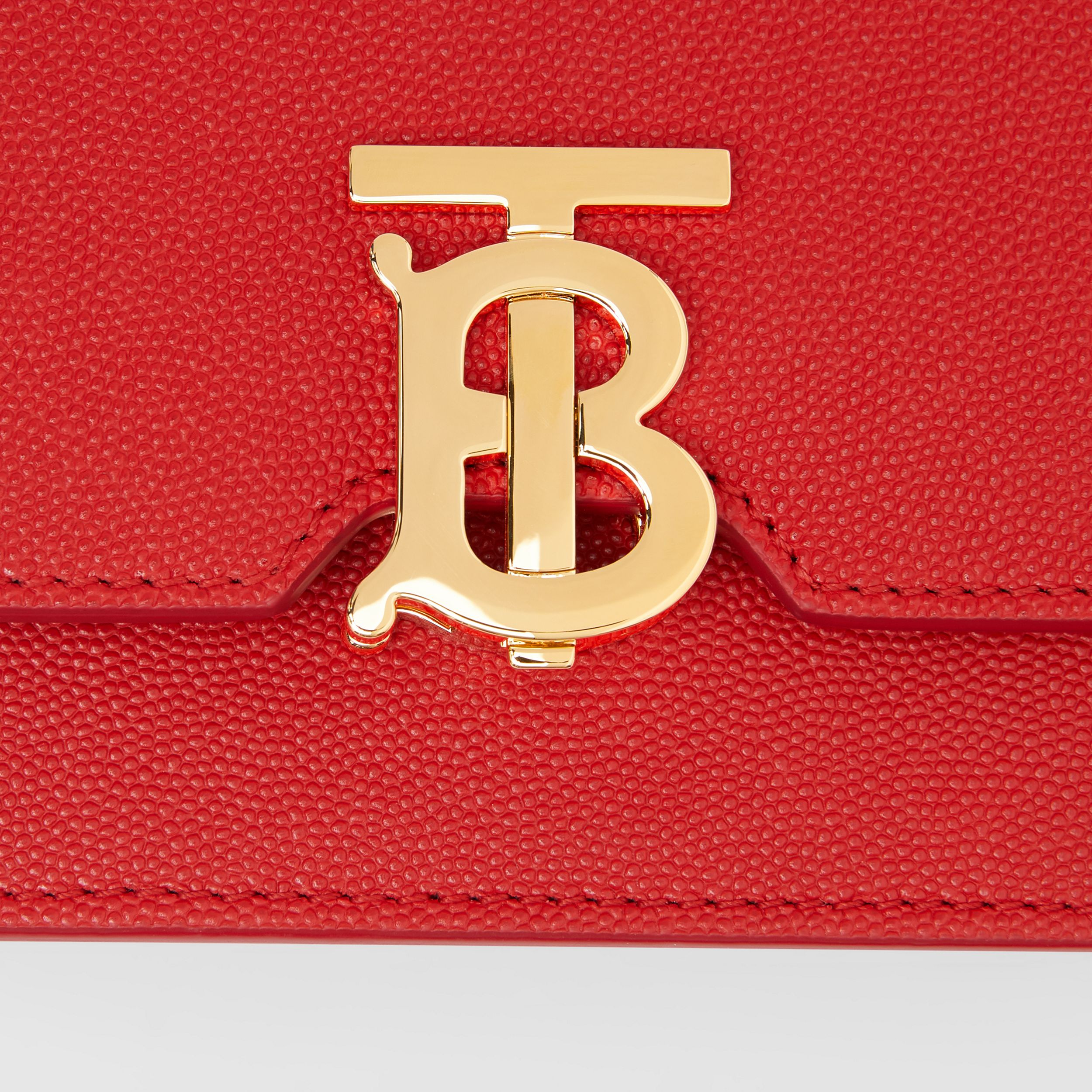 Mini Grainy Leather TB Bag in Bright Red | Burberry - 2