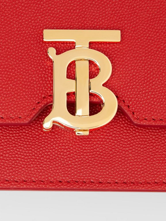Mini Grainy Leather TB Bag in Bright Red - Women | Burberry United States - cell image 1