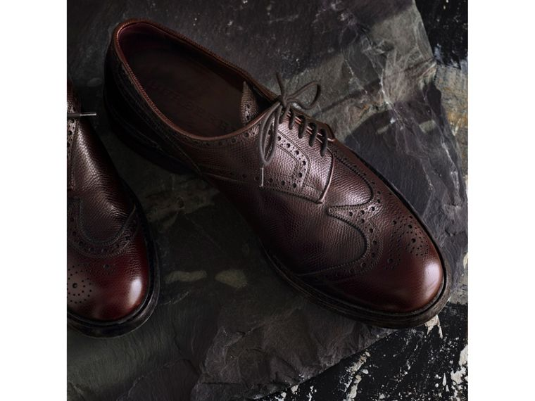 Leather Brogues with Asymmetric Closure