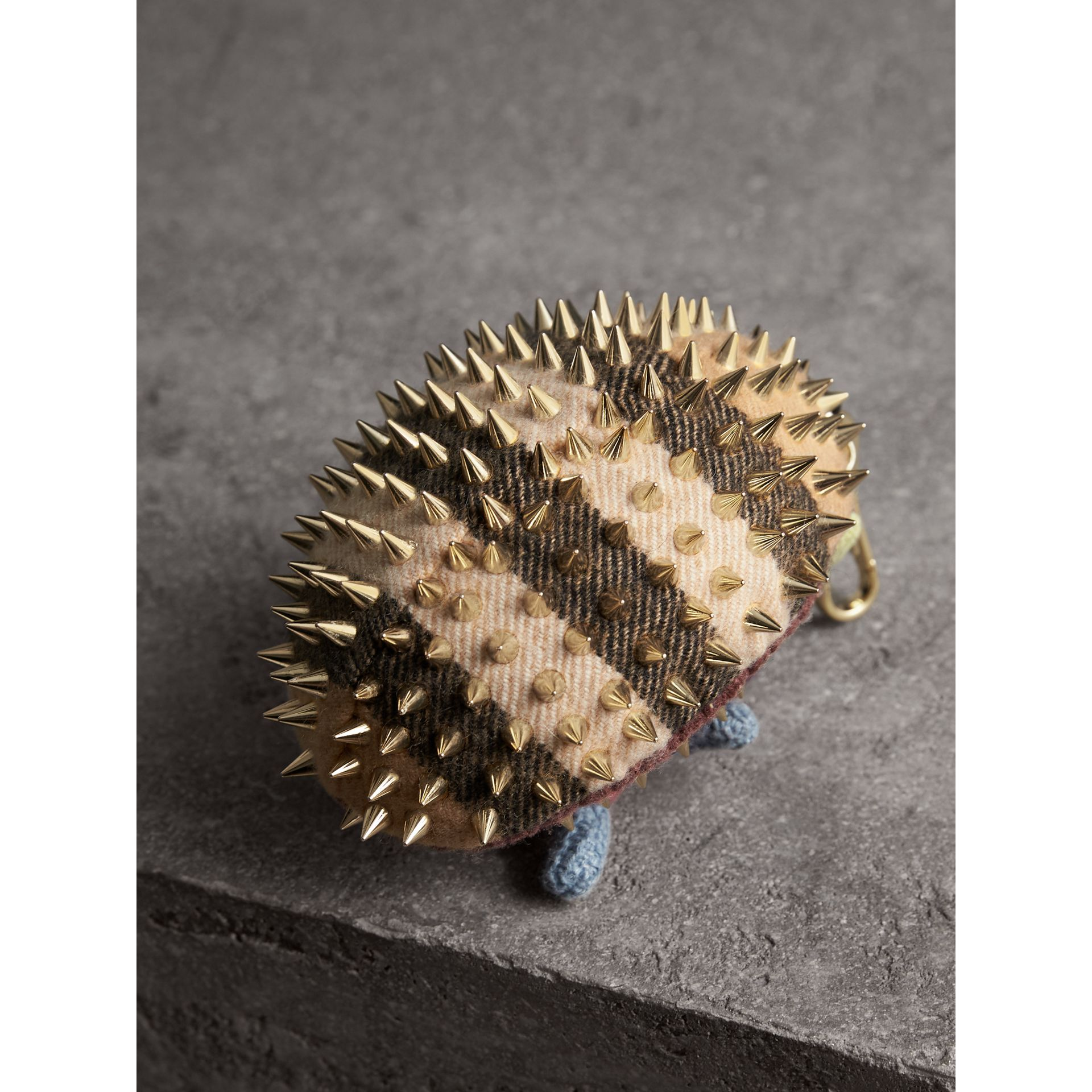 Bob The Hedgehog Cashmere Charm in Camel | Burberry Singapore - gallery image 3