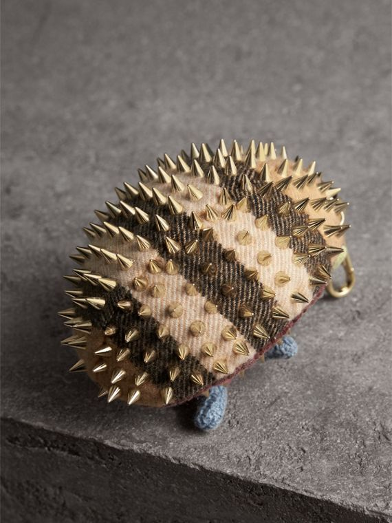 Bob The Hedgehog Cashmere Charm in Camel | Burberry Singapore - cell image 3