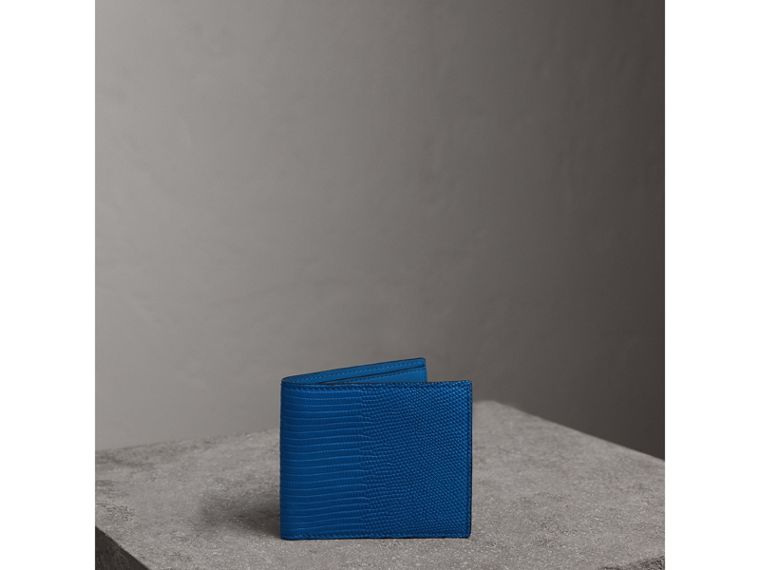 Lizard International Bifold Wallet in Sapphire Blue - Men | Burberry United Kingdom - cell image 4