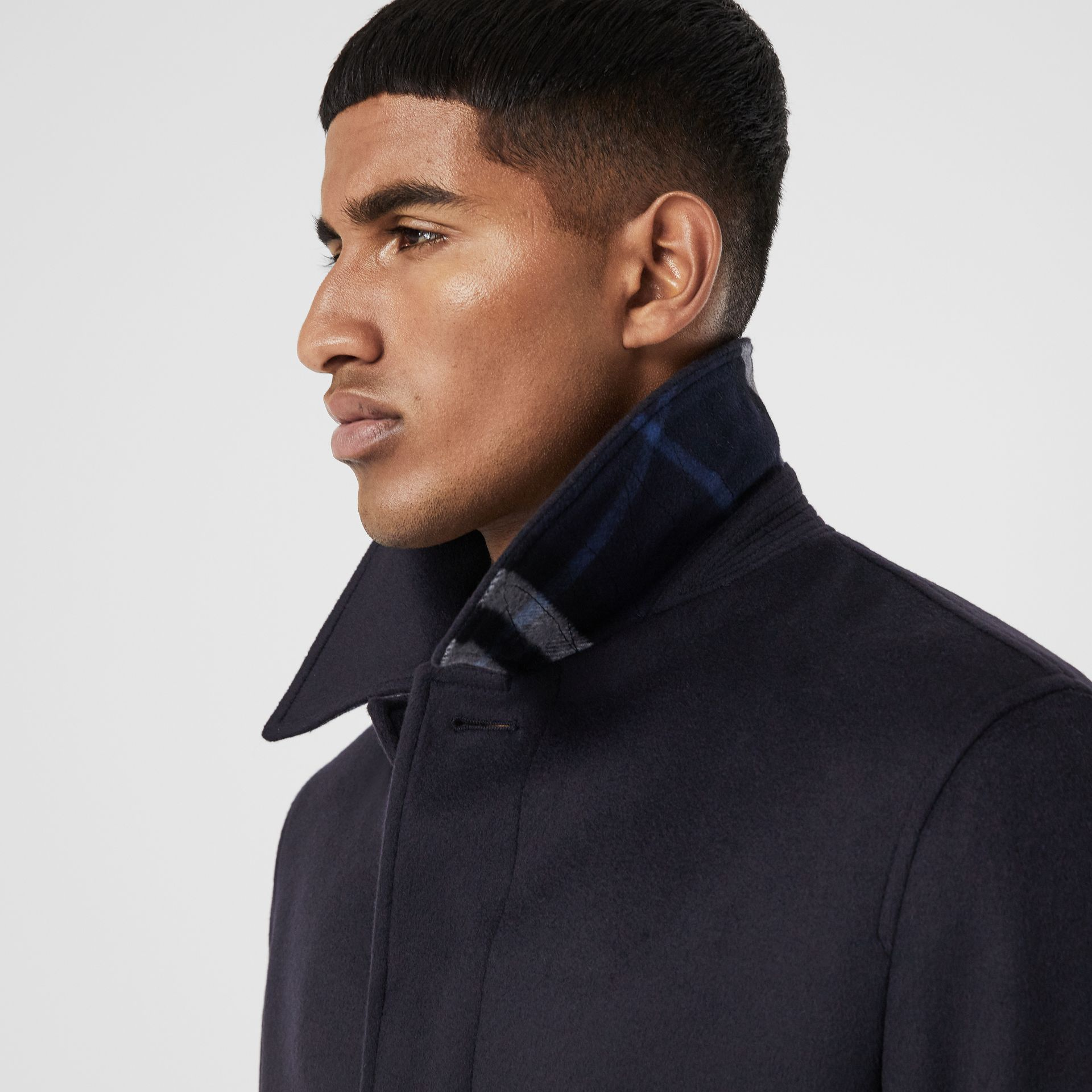 Wool Cashmere Car Coat in Navy - Men | Burberry Australia - gallery image 1