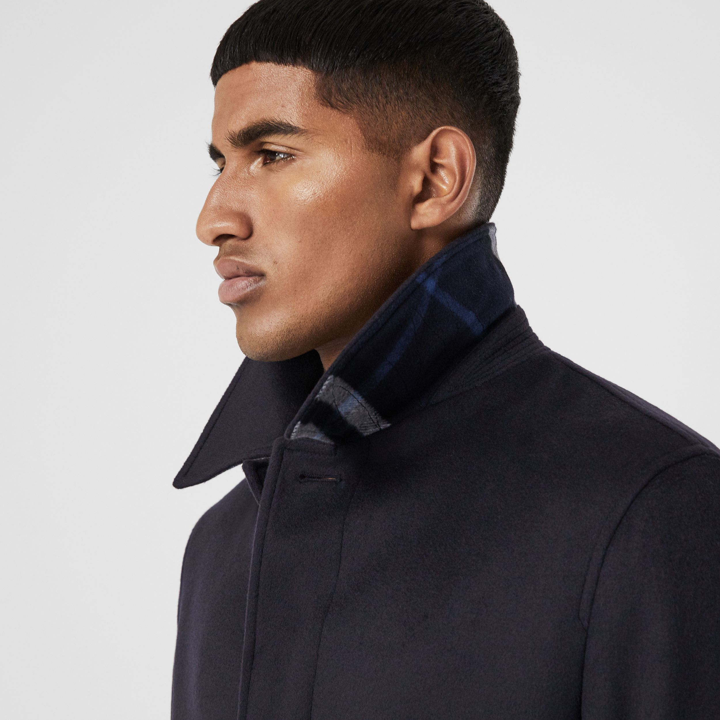 Wool Cashmere Car Coat in Navy - Men | Burberry United Kingdom - 2