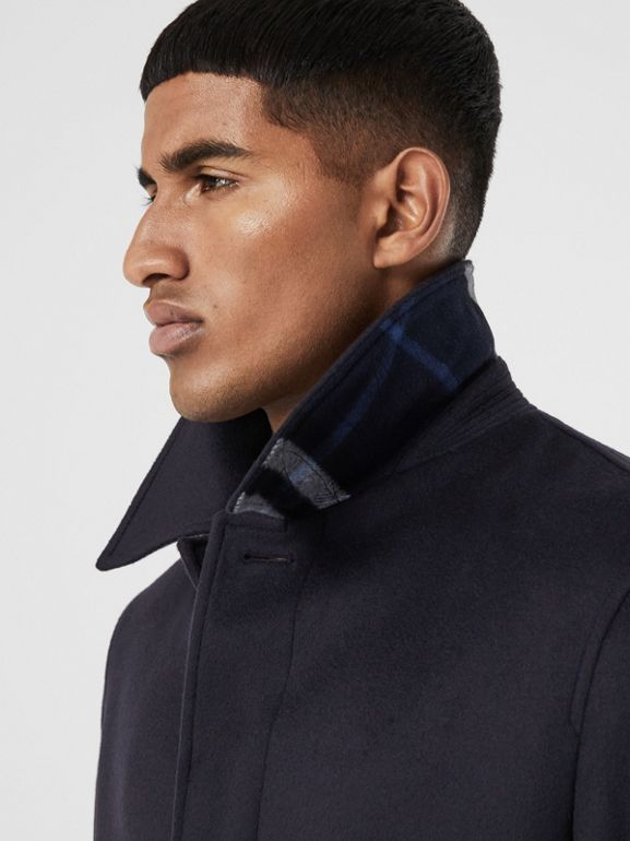 Wool Cashmere Car Coat in Navy - Men | Burberry Australia - cell image 1