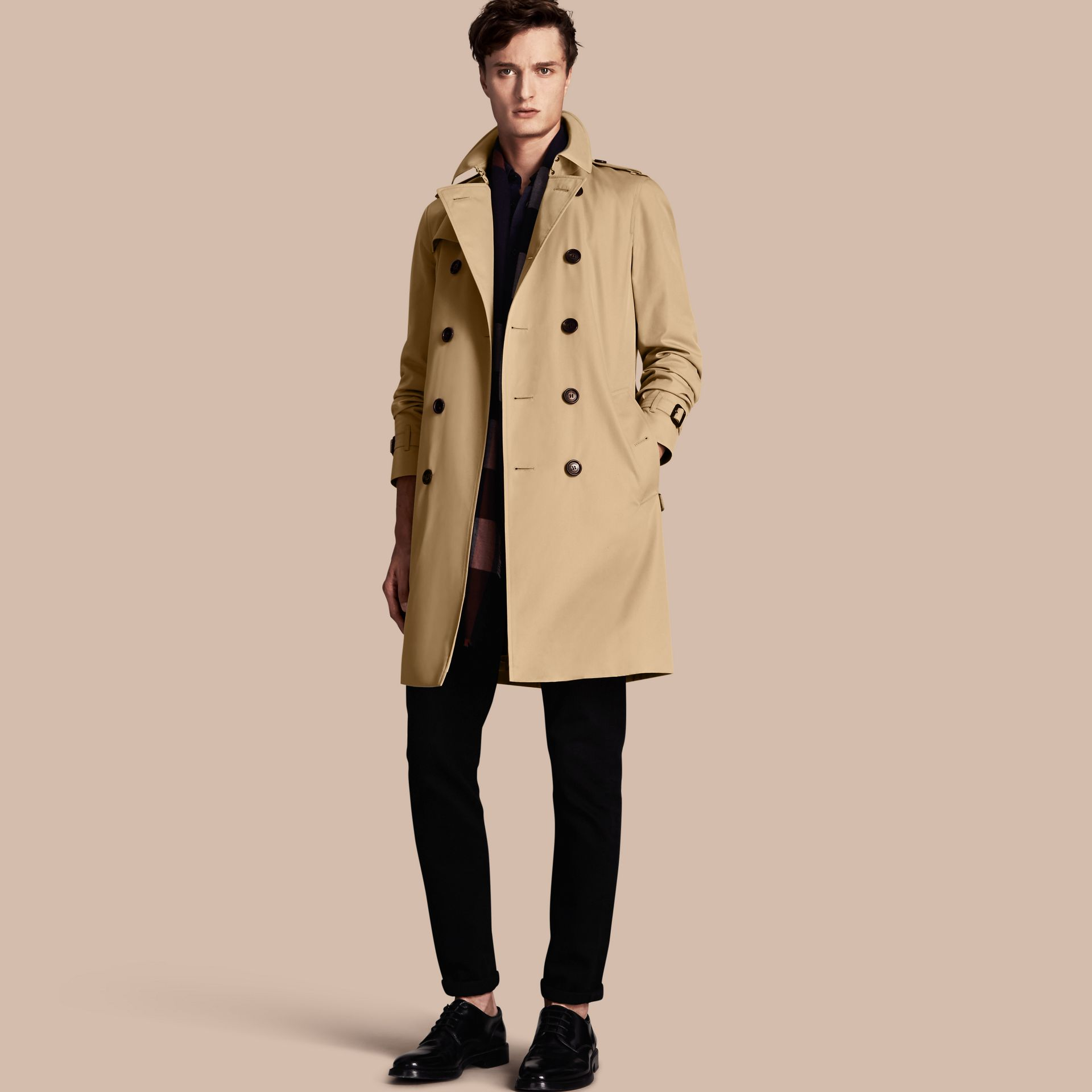 Honey The Chelsea – Long Heritage Trench Coat Honey - gallery image 1