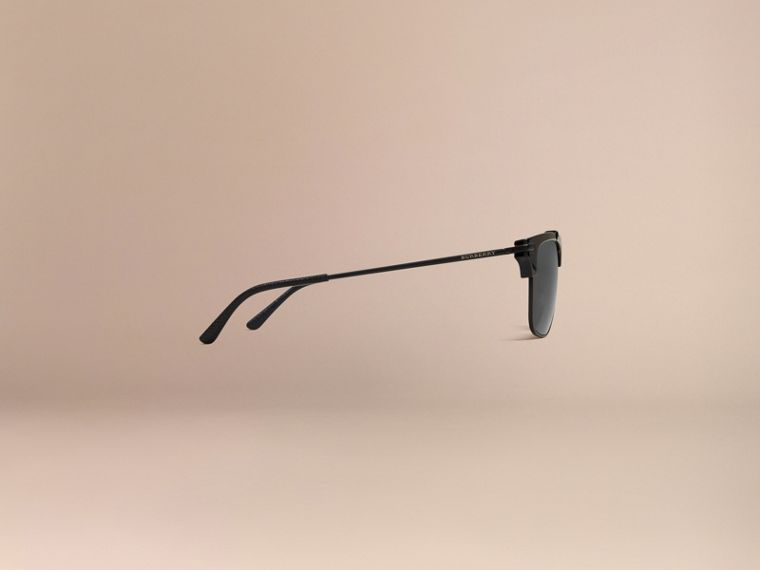 Black Square Frame Sunglasses Black - cell image 4