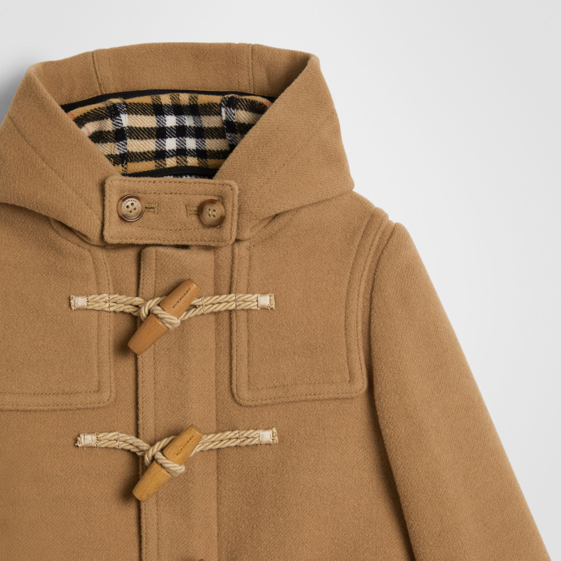 Duffle-coat en laine double face (Jaune Antique) | Burberry Canada - photo de la galerie 4