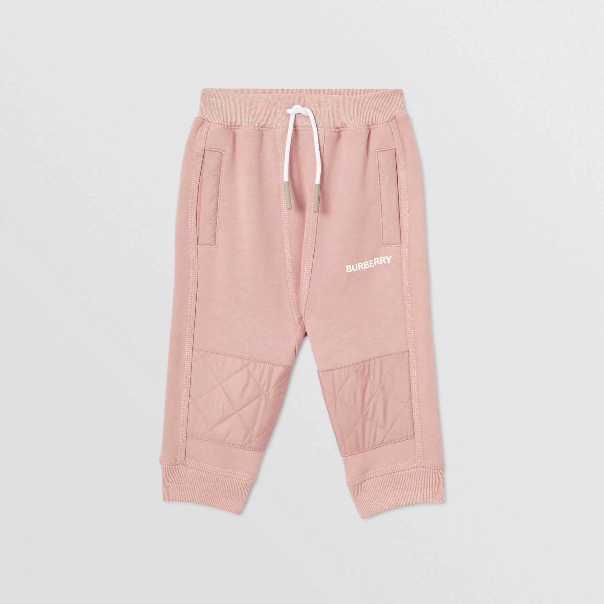 Diamond Quilted Detail Cotton Trackpants in Lavender Pink - Children | Burberry Singapore - gallery image 0