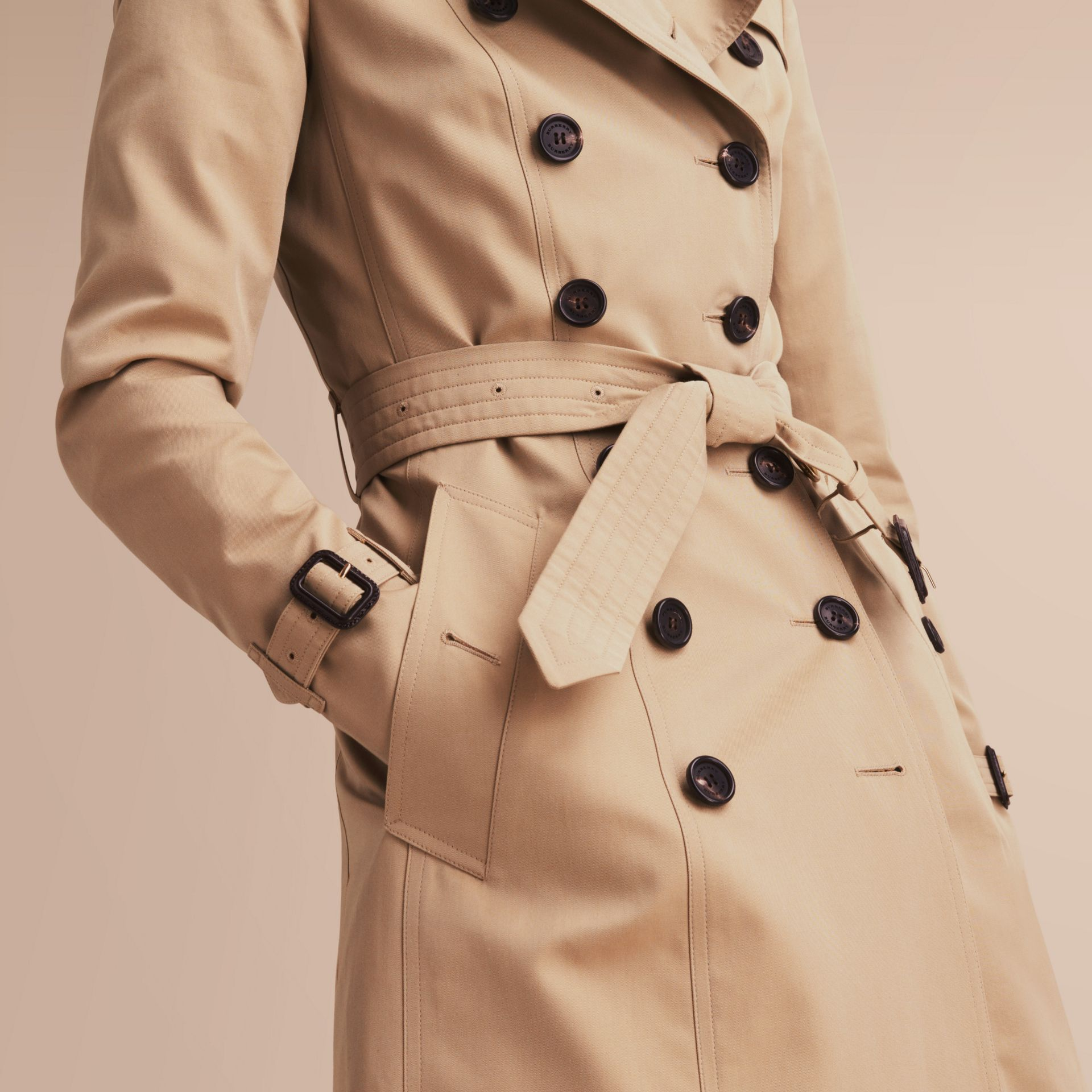 The Chelsea – Mid-length Heritage Trench Coat in Honey - gallery image 6