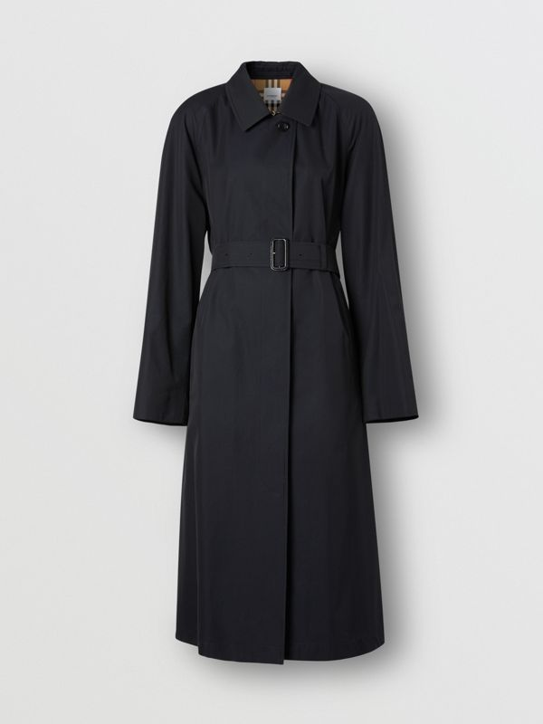 Tropical Gabardine Belted Car Coat in Midnight - Women | Burberry - cell image 3