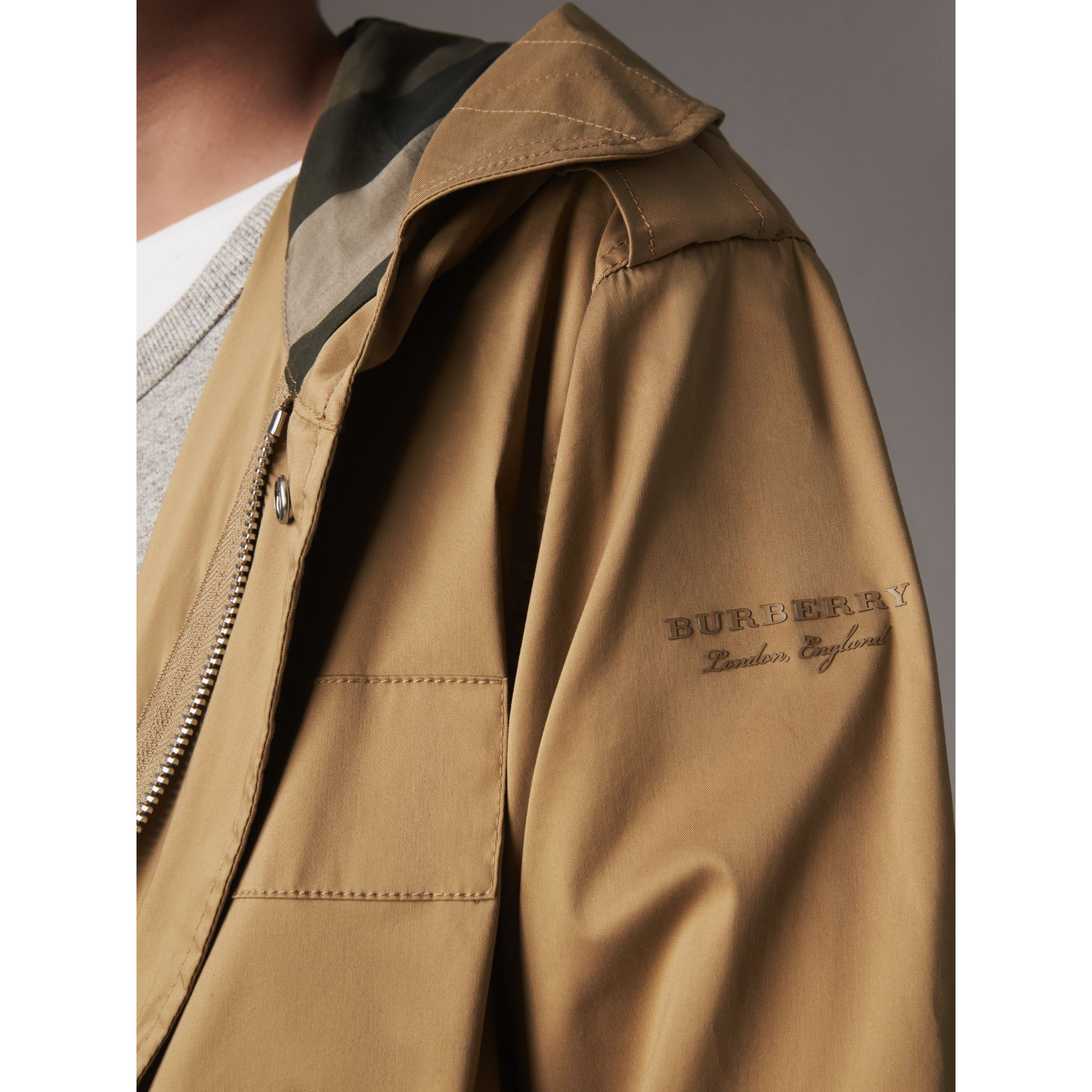 Cotton Blend Twill Parka - Men | Burberry - gallery image 2