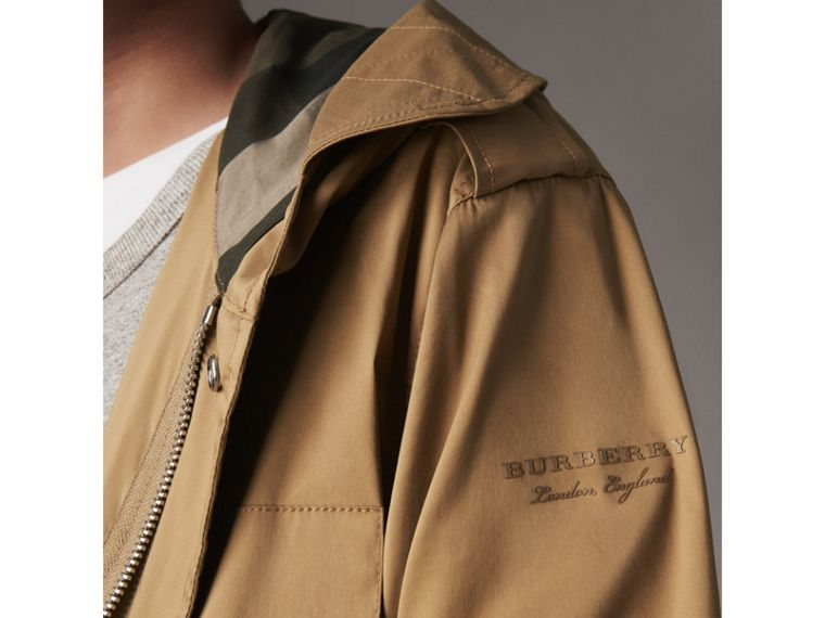 Cotton Blend Twill Parka - Men | Burberry - cell image 1
