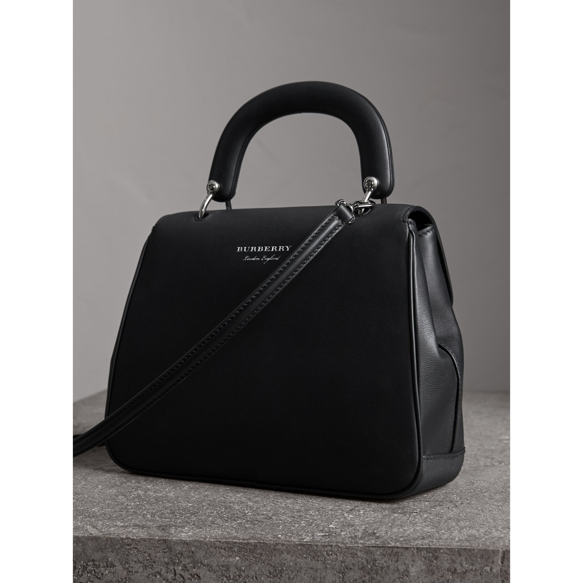 The Small DK88 Top Handle Bag in Black - Women | Burberry United Kingdom - gallery image 4