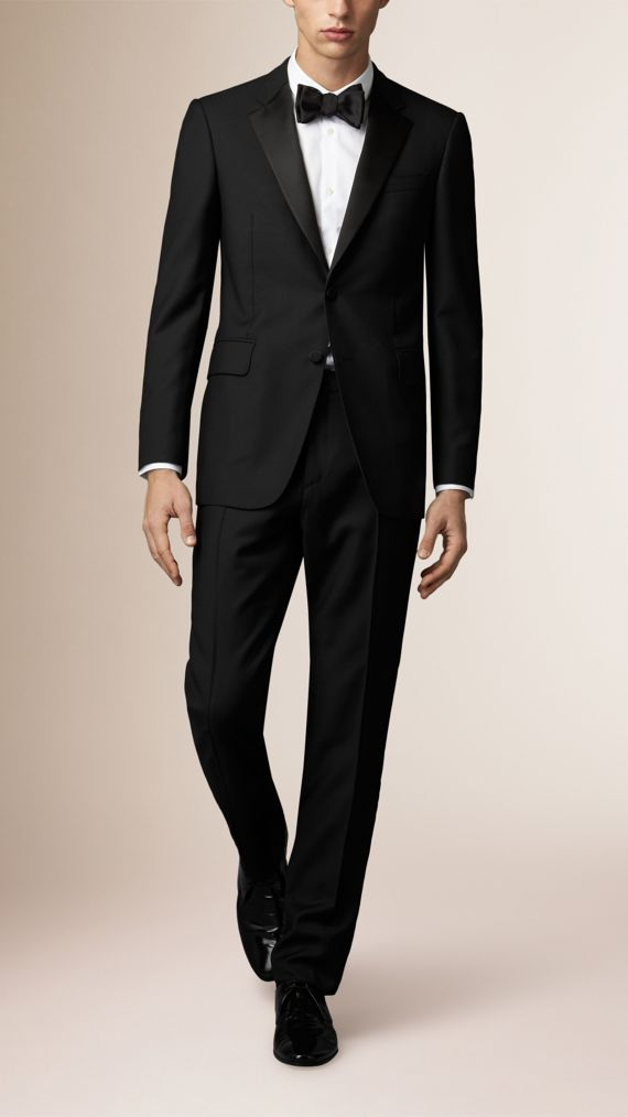 Classic Fit Wool Mohair Part-canvas Tuxedo