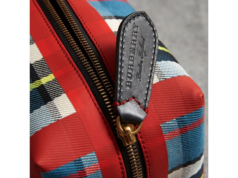 Beauty case in cotone con motivo tartan (Blu) | Burberry - cell image 1