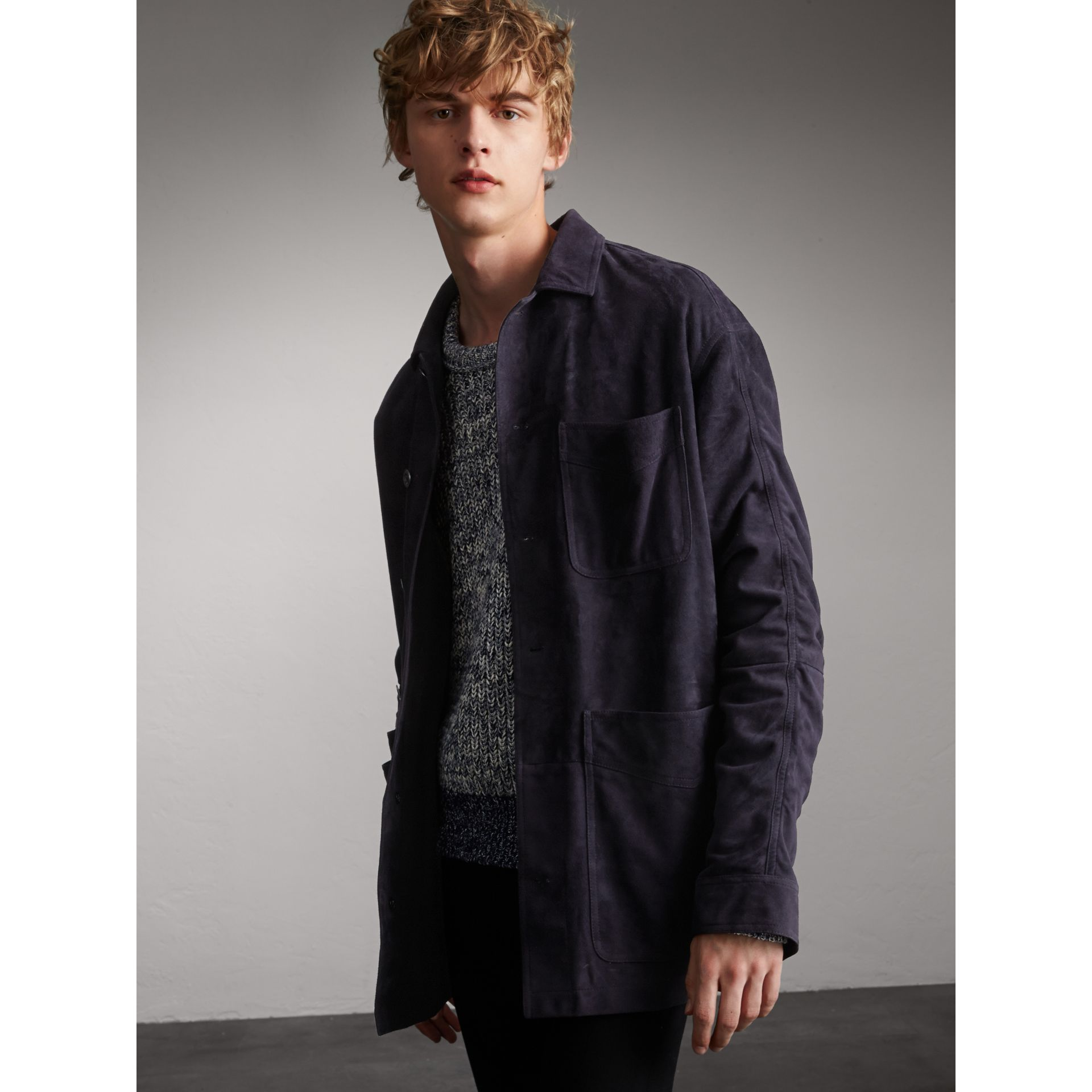 Suede Workwear Jacket - Men | Burberry - gallery image 1