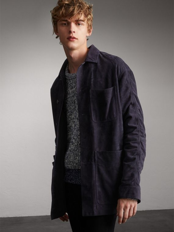 Suede Workwear Jacket - Men | Burberry