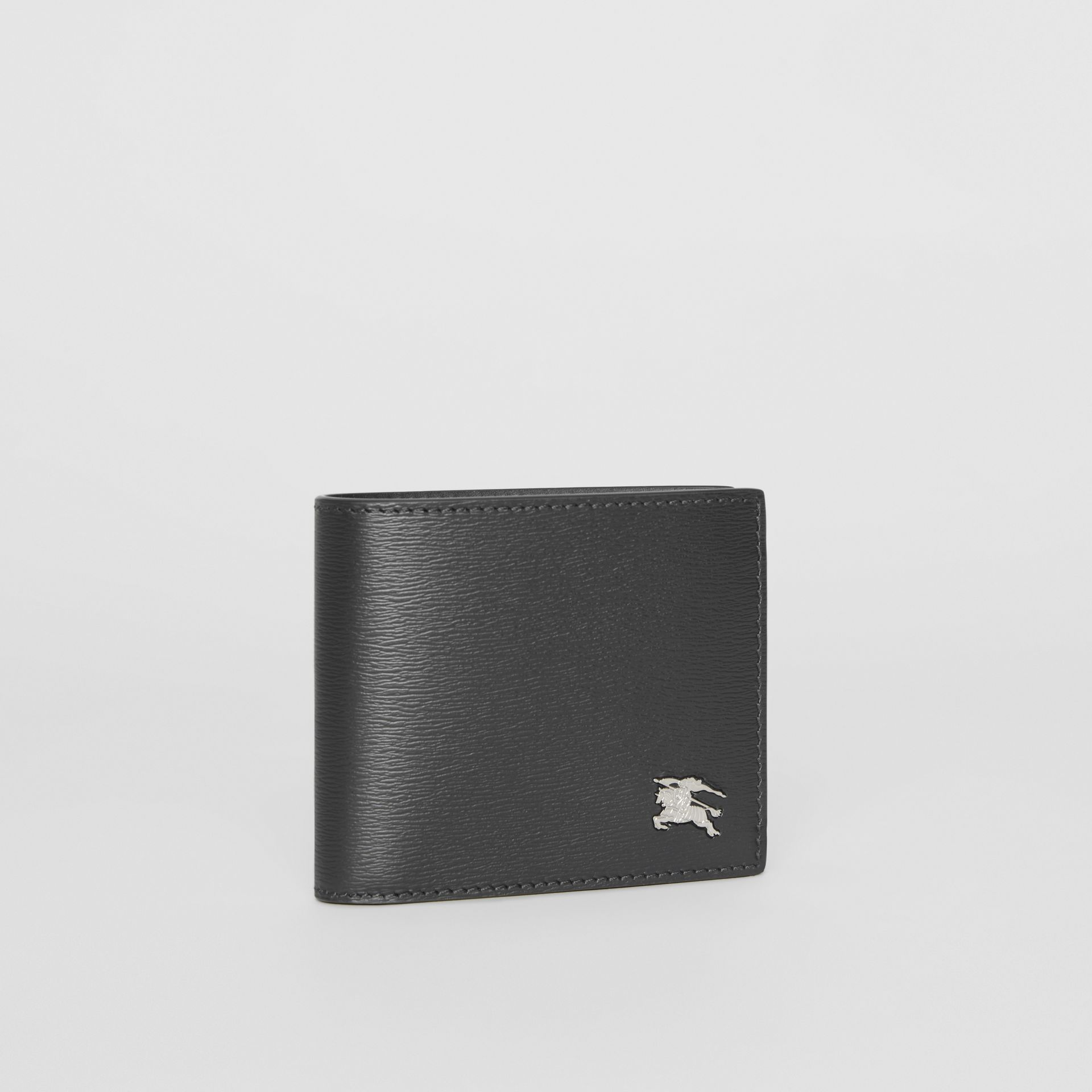 EKD London Leather Bifold Wallet with ID Card Case in Black - Men | Burberry Australia - gallery image 4