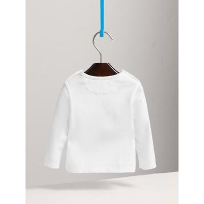 Thomas Bear Guardsman Print Cotton Top in White Children