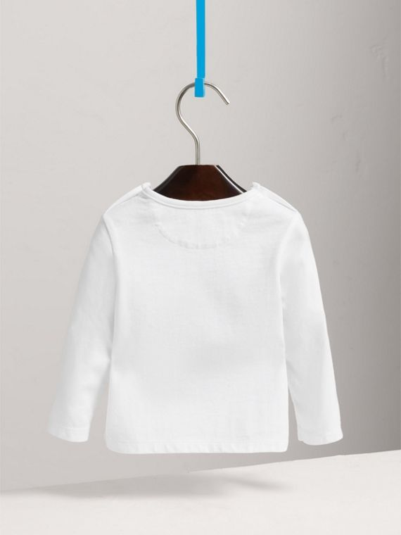Thomas Bear Guardsman Print Cotton Top in White - Children | Burberry United Kingdom - cell image 3