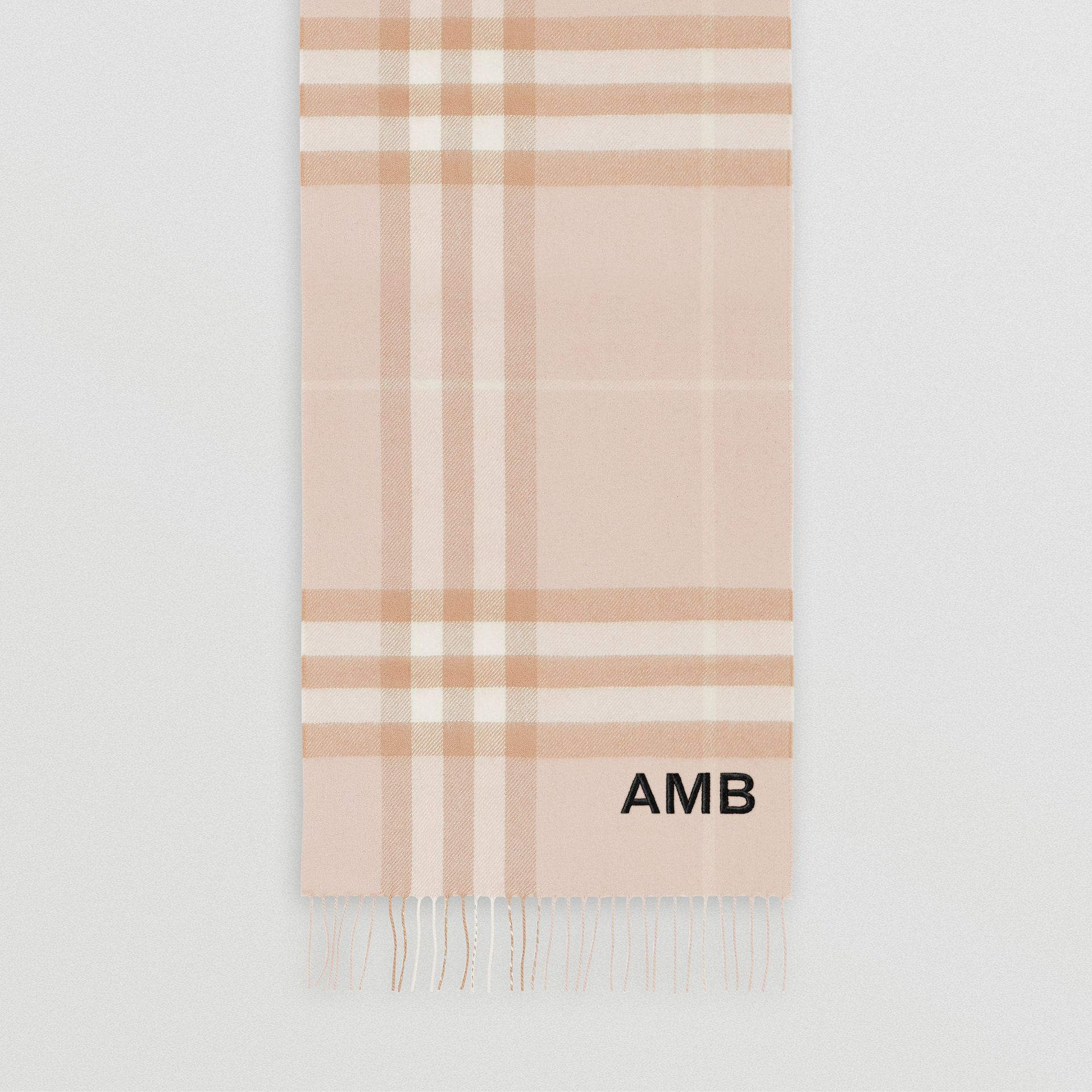 The Classic Check Cashmere Scarf in Blush   Burberry - gallery image 8