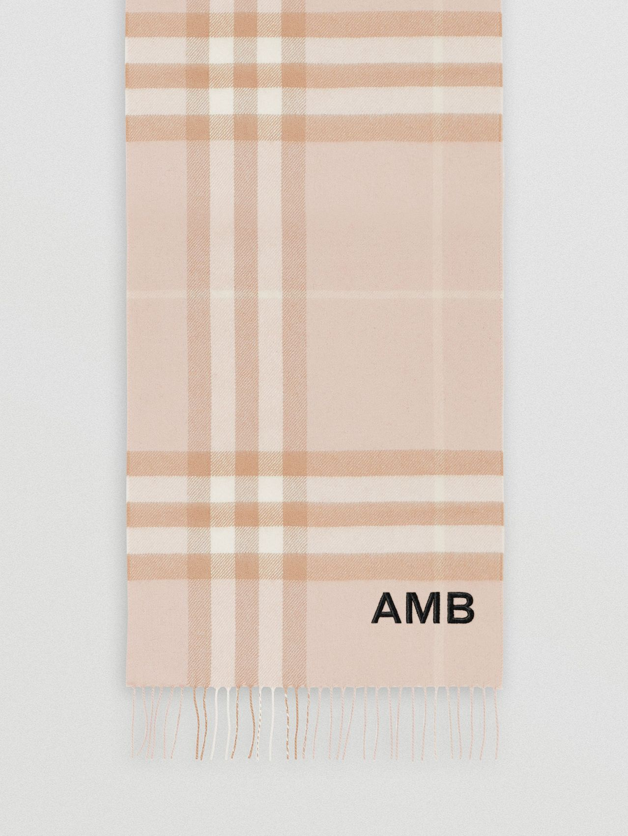 The Classic Check Cashmere Scarf in Blush