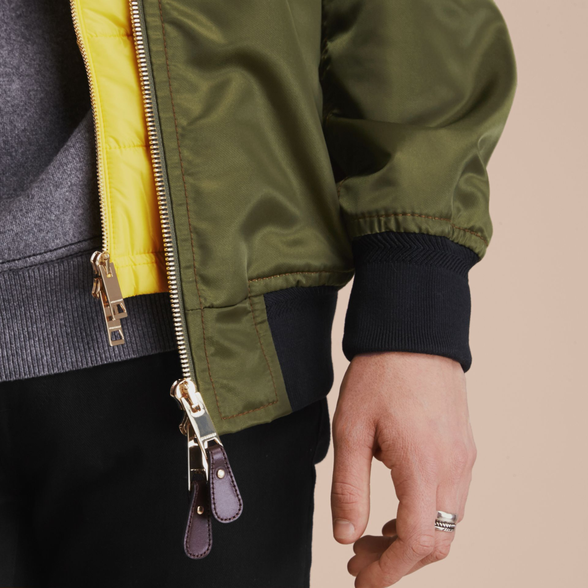 Technical Bomber Jacket with Detachable Warmer - gallery image 7
