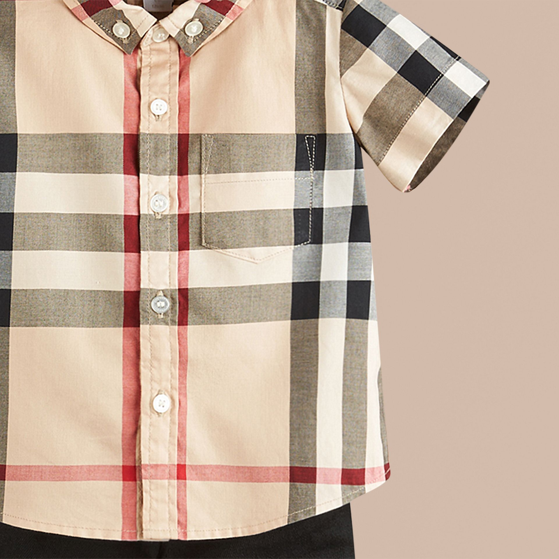Check Cotton Twill Shirt in New Classic - gallery image 2