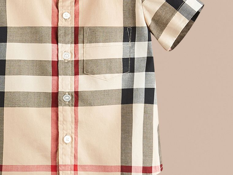 Check Cotton Twill Shirt in New Classic - Boy | Burberry - cell image 1