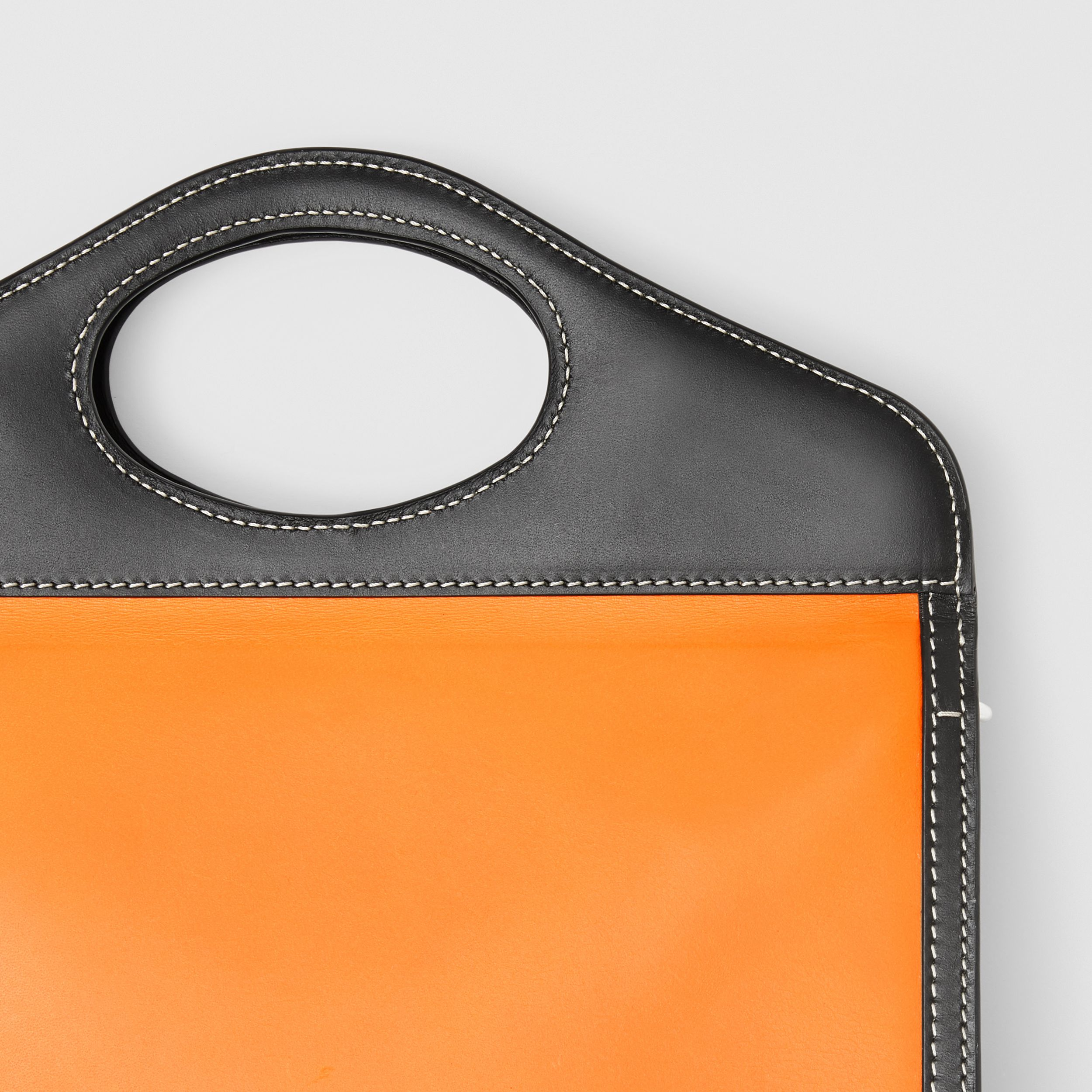 Two-tone Leather Foldover Pocket Bag in Deep Orange/black - Men | Burberry Australia - 2