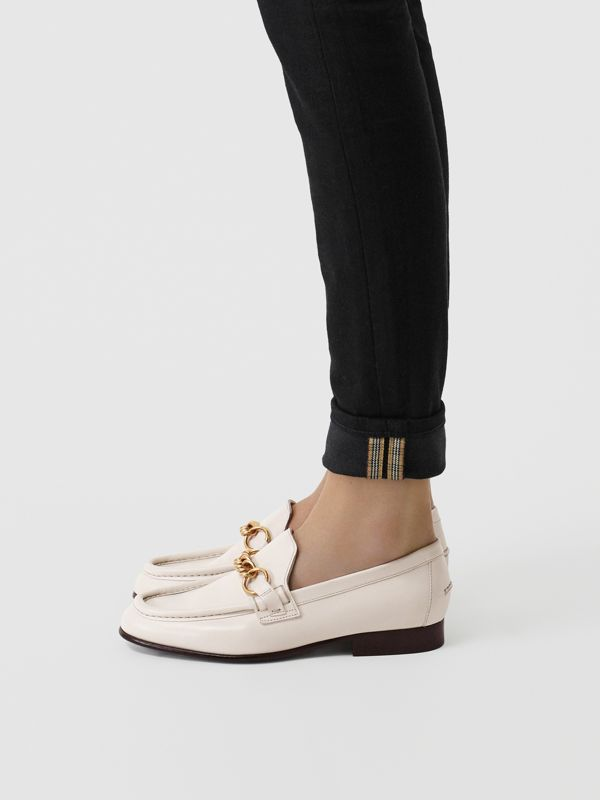 The Leather Link Loafer in Ash White - Women | Burberry - cell image 2
