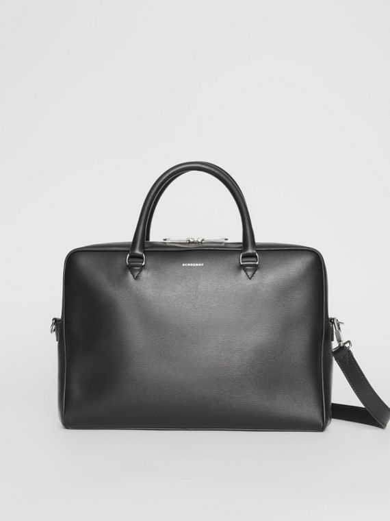 London Leather Briefcase in Black