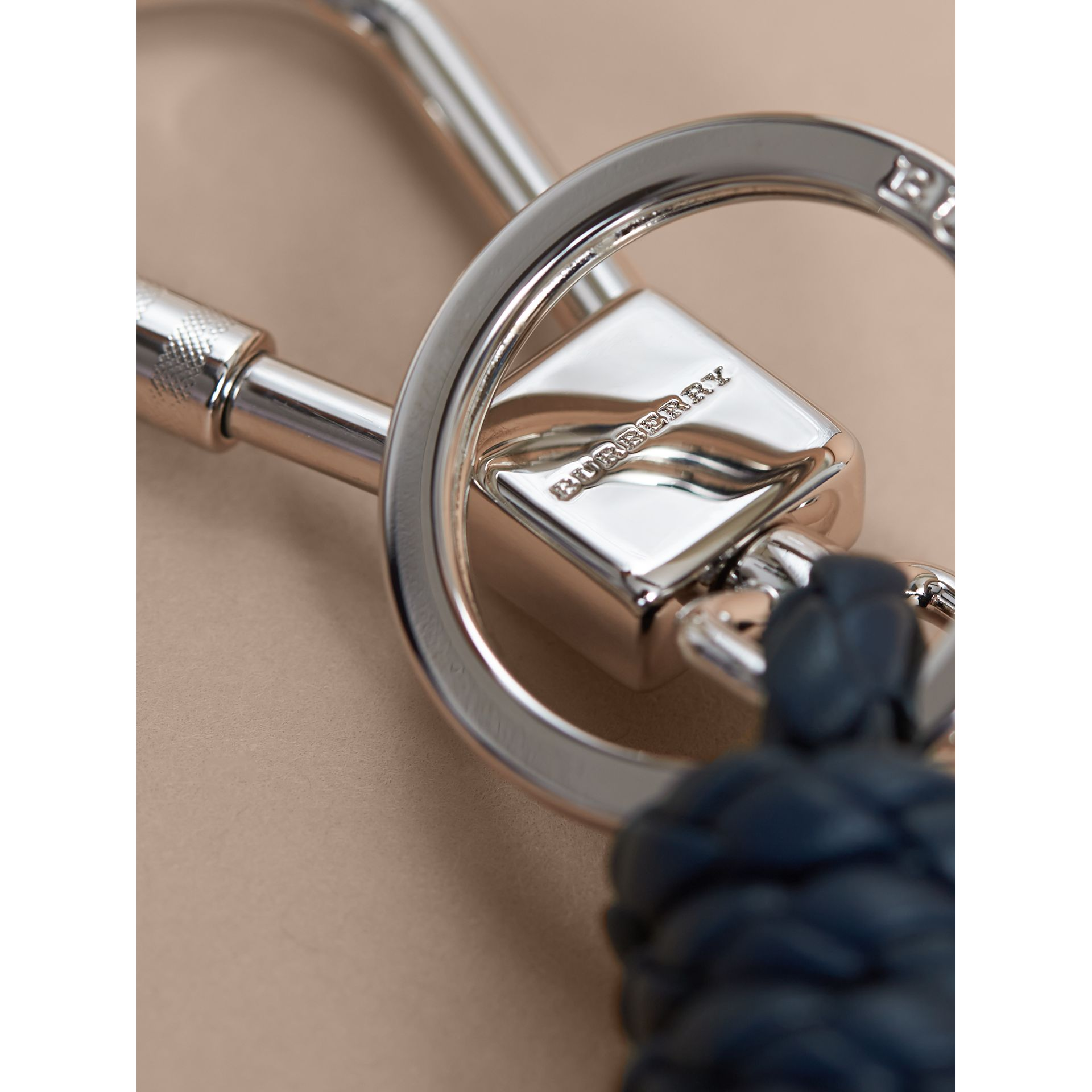 Braided Knot Leather Key Ring - gallery image 2